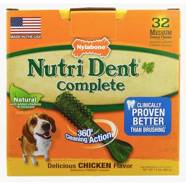 Nutri Dent Complete Dental Chews Chicken Medium Size 32 Pack