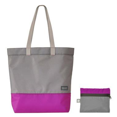 flip & tumble Tote Bag Raspberry & Grey