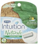 Schick Intuition Naturals Sensitive Care Razor Refills