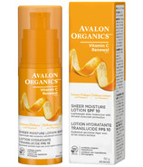 Avalon Organics Vitamin C Renewal Sheer Moisture Lotion SPF10