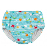 iPlay Snap Reusable Absorbent Swimsuit Diaper Light Aqua Sea Friends