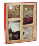 Umbra Fotoblock Multi Desk Photo Frame Red