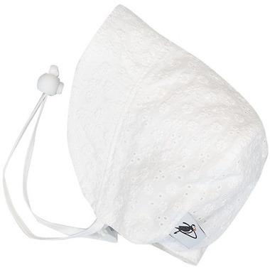 Puffin Gear Cotton Bonnet Eyelet White