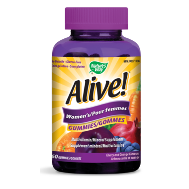 Nature\'s Way Alive! Womens\'s Gummies MultiVitamin & Mineral Supplement