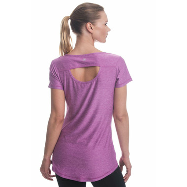 Gaiam Energy Tee Striking Purple Heather