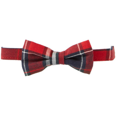 Mue Pie Red Plaid Bow Tie