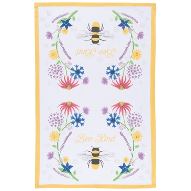 Now Designs Bee Kind Print Tea Towel