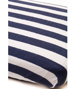 Little Unicorn Cotton Muslin Fitted Sheet Navy Stripe