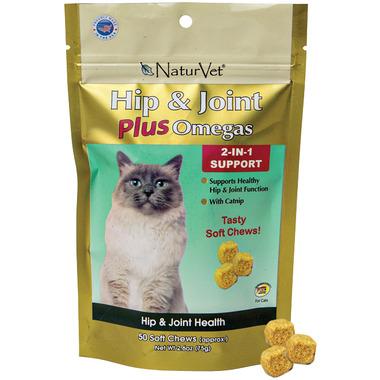 Naturvet Hip & Joint Plus Omegas Cat Soft Chews