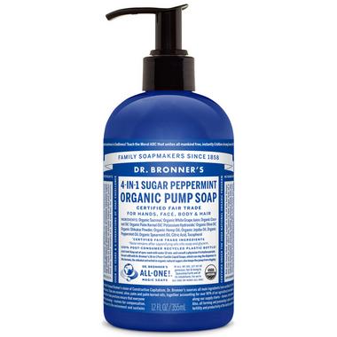 Dr. Bronner\'s 4-in-1 Sugar Peppermint Organic Pump Soap