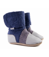 Nooks Design Felted Wool Booties Sky