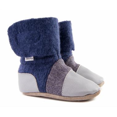 Nooks Design Felted Wool Booties Sky