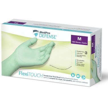 MedPro Defense FlexiTouch Vinyl Powder Free Gloves