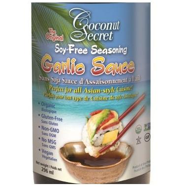 Coconut Secret Organic Coconut Soy Free Garlic Sauce