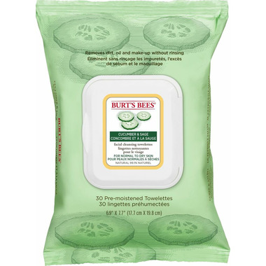 Burt\'s Bees Facial Cleansing Towelettes Cucumber & Sage