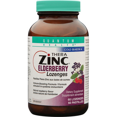 Quantum Therazinc Elderberry Lozenges