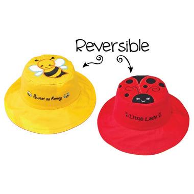 Flapjack Kids Reversible Sun Hat Bee & Ladybug