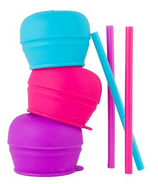 Boon Snug Straw Lids Pink Multi