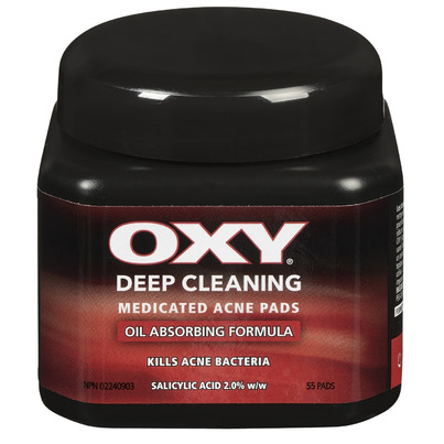 Oxy facial cleaning pads