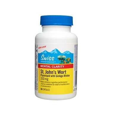Swiss Natural St. John\'s Wort Phytolipid with Ginkgo Biloba