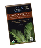 Coconut Secret Peruvian Crunch Dark Chocolate Bar