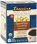 Teeccino Dandelion Coconut Chicory Herbal Tea