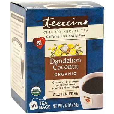 Teeccino Dandelion Coconut Chicory Herbal Tea