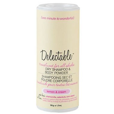 Be Delectable Lemon & Cream Dry Shampoo & Body Powder