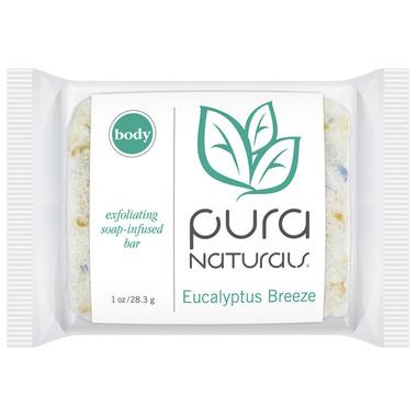 Pura Naturals Body Soap-Infused Sponge Eucalyptus Breeze