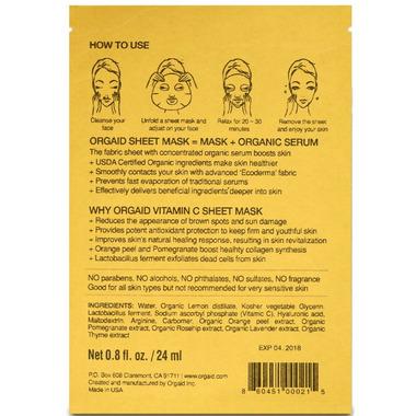Orgaid Vitamin C & Revitalizing Organic Sheet Mask