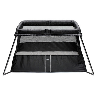 buy babybjorn travel crib light black at free shipping 35. Black Bedroom Furniture Sets. Home Design Ideas