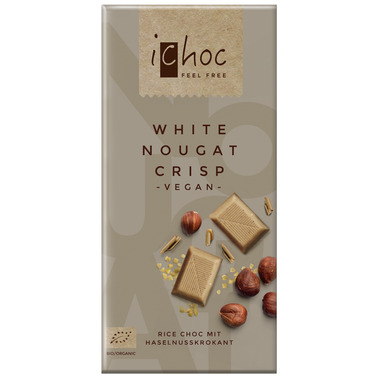 Ichoc White Nougat Crisp Chocolate Bar