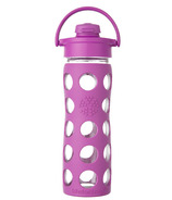 Lifefactory Glass Bottle Huckleberry Flip Cap & Silicone Sleeve