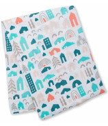Lulujo Designer Collection Muslin Cotton Swaddling Blanket