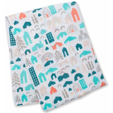 Lulujo Designer Collection Muslin Cotton Swaddling Blanket
