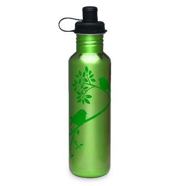 Gaiam Green Bird In Hand Stainless Steel Water Bottle