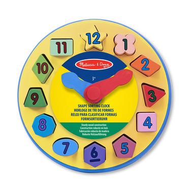 Melissa & Doug Wooden Shape Sorting Clock