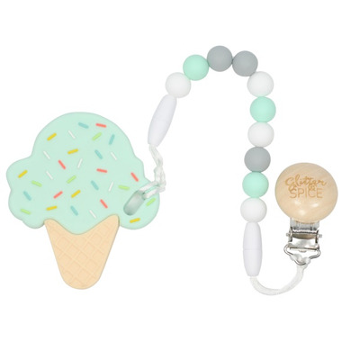 Glitter & Spice Ice Cream Cone Teether