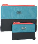 Lug Zipline Storage Pouches Aqua & Grey