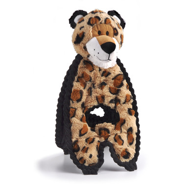 Charming Pet Products Cuddle Tug Leopard Dog Toy