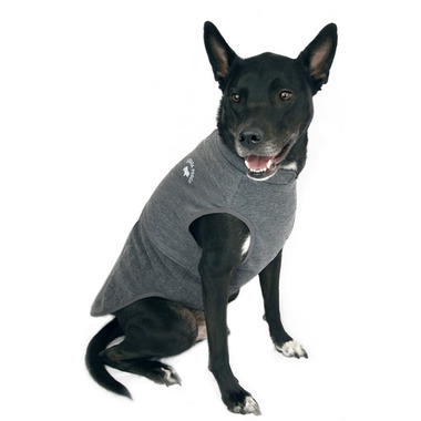 Canada Pooch Rocky Ridge Back-Zip Vest in Grey Melange Size 14+