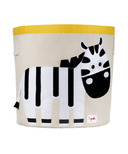 3 Sprouts Storage Bin Black & White Zebra