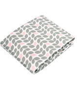 Kushies Flannel Bassinet Pad Fitted Sheet Petal Grey