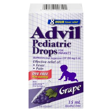 Advil Pediatric Drops For Infants Dye Free Grape