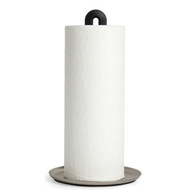 Umbra Keyhole Paper Towel Holder Black & Nickle