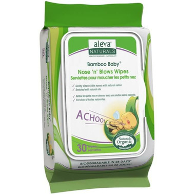 Aleva Naturals Bamboo Baby Nose \'n\' Blows Wipes