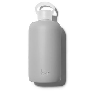 bkr Ben Glass Water Bottle Opaque Cool Light Gray