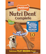 Nutri Dent Complete Dental Filet Mignon Large Size 10 Pack