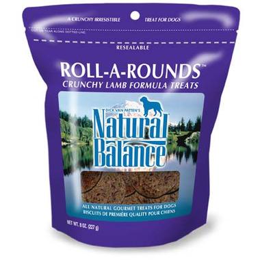 Natural Balance Roll-A-Rounds Crunchy Lamb Formula Dog Treats
