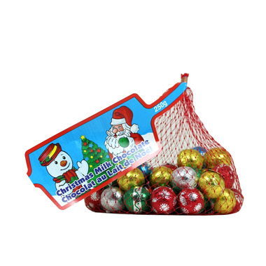 Holiday Foiled Milk Chocolate Balls